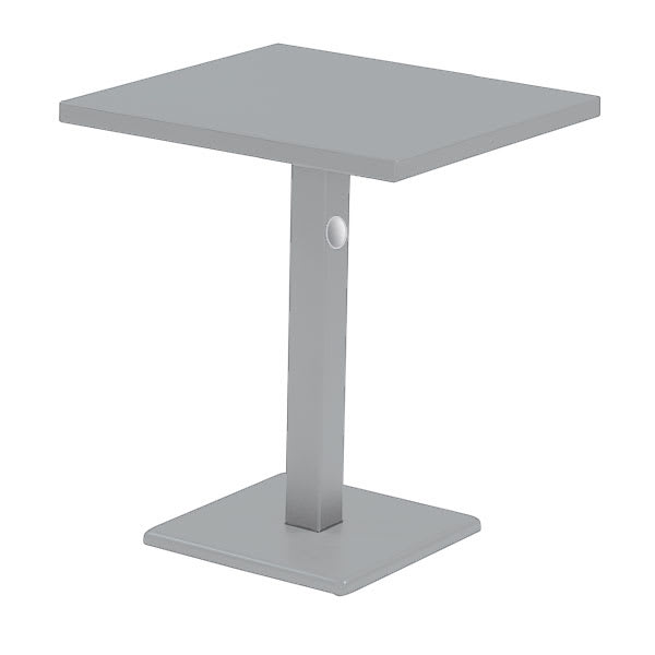 "emu 476K ALU 28"" Rectangular Lock Table w/ Solid Top & Pedestal, Aluminum"