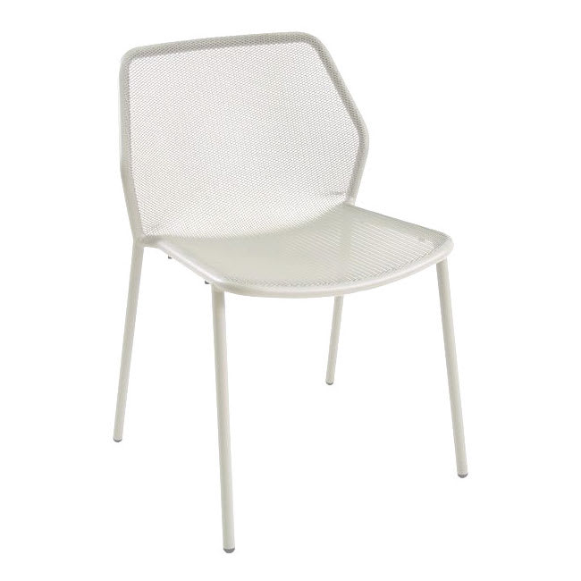 "emu 521 30.5"" Darwin Stacking Side Chair w/ Mesh Back & Seat - Antique White"