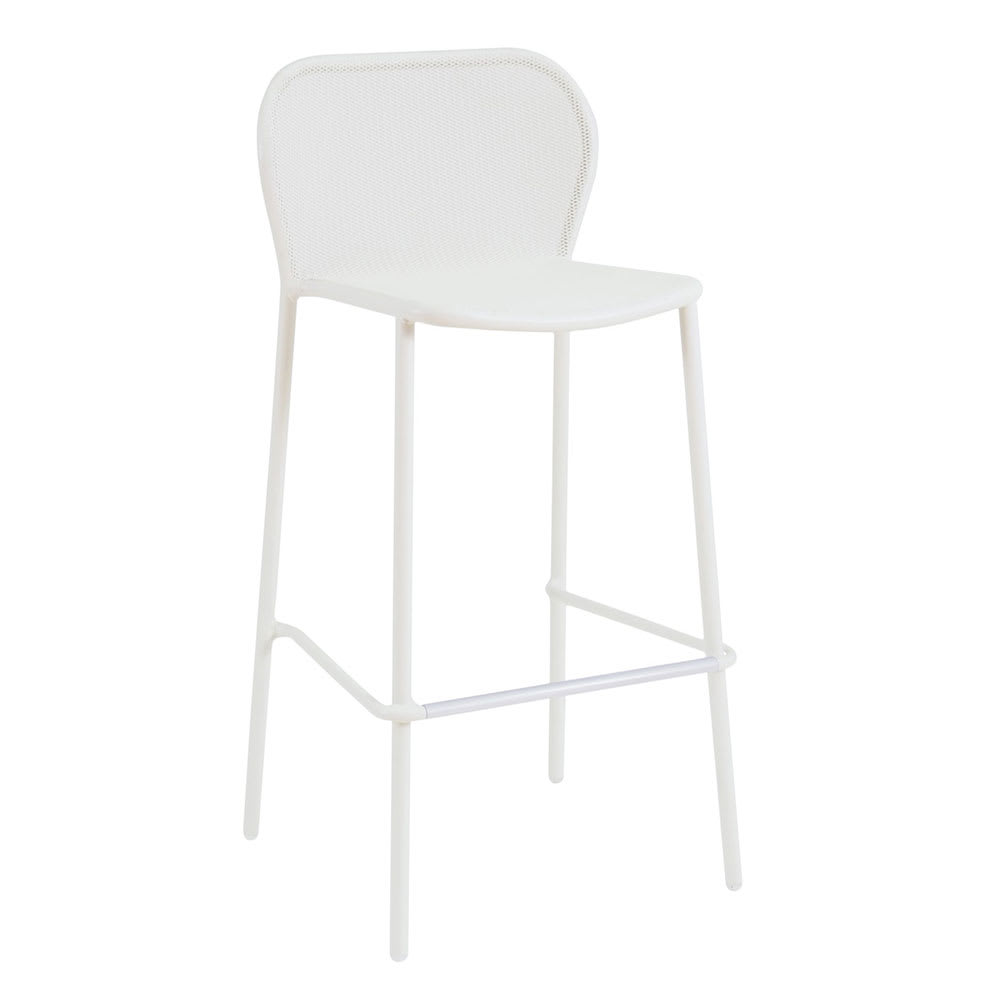 "emu 523 40.5"" Darwin Stacking Barstool w/ Mesh Back & Seat - Antique White"
