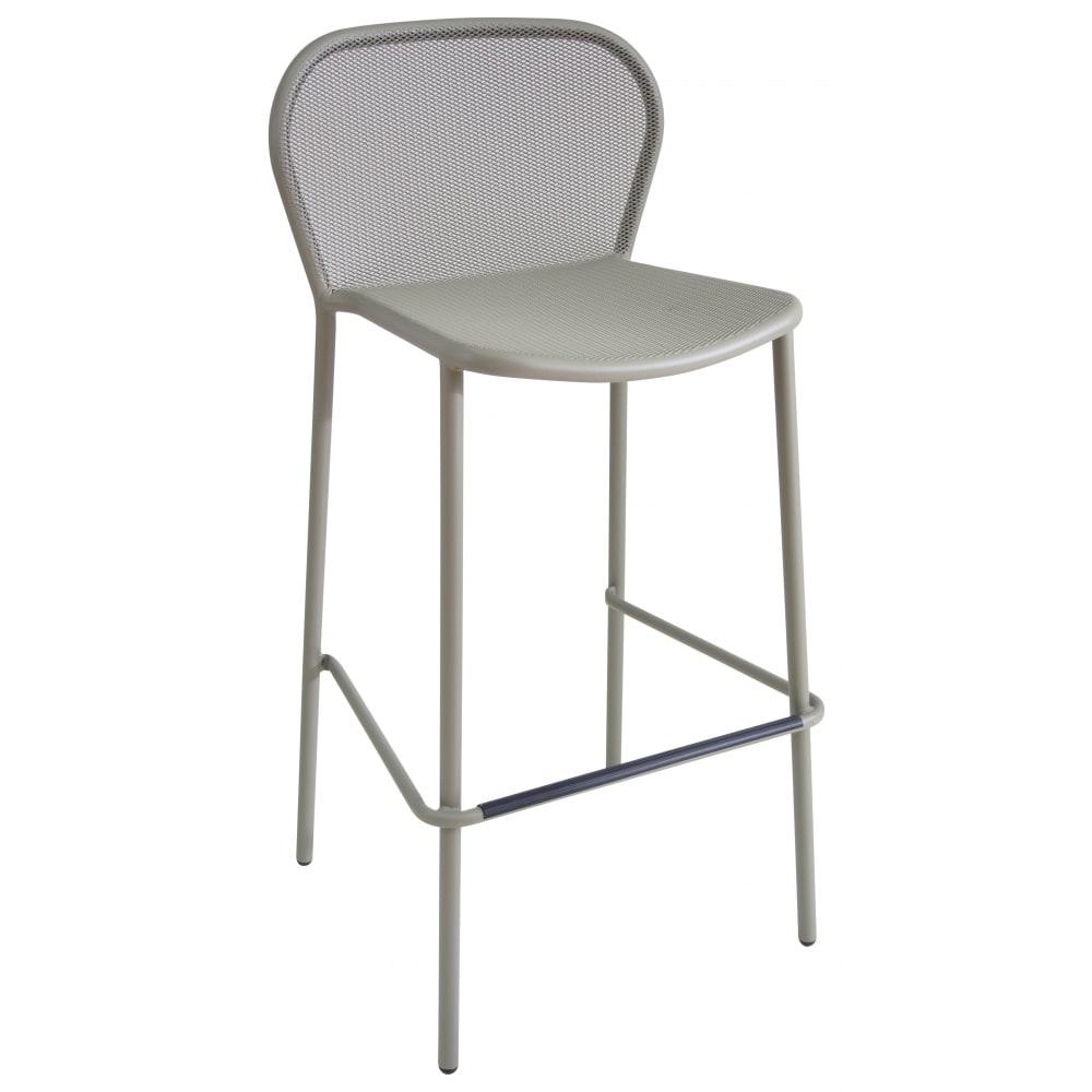 "emu 523 40.5"" Darwin Stacking Barstool w/ Mesh Back & Seat - Antique Moss Gray"