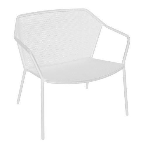 """emu 524 29.5"""" Darwin Stacking Lounge Chair w/ Mesh Back & Seat - Antique White"""