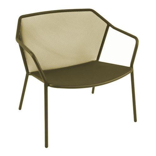"emu 524 29.5"" Darwin Stacking Lounge Chair w/ Mesh Back & Seat - Antique Moss Gray"