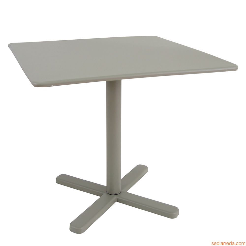 "emu 525 Darwin Dining Height Tilt-Top Table w/ 28"" Square Top - Steel, Antique Moss Gray"