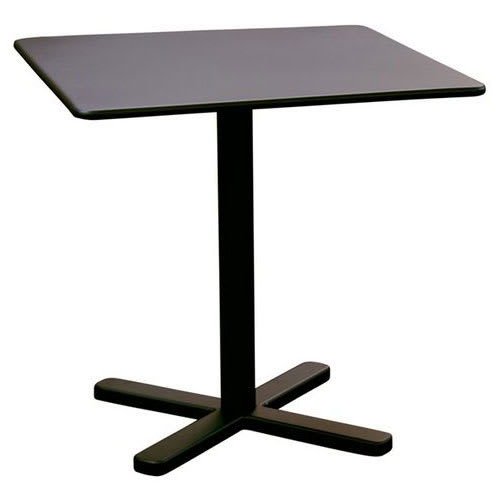 "emu 525 Darwin Dining Height Tilt-Top Table w/ 28"" Square Top - Steel, Antique Black"