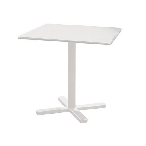 "emu 525 Darwin Dining Height Tilt-Top Table w/ 28"" Square Top - Steel, Antique White"