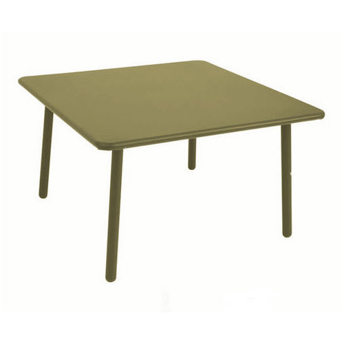 "emu 526 Darwin Low Table w/ 28"" Square Top - Steel, Antique Moss Gray"