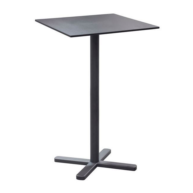 "emu 528 Darwin Bar Height Tilt-Top Bar Table w/ 28"" Square Top - Steel, Antique Black"