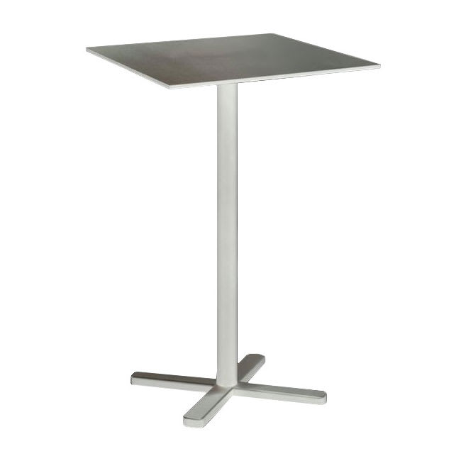 "emu 528 Darwin Bar Height Tilt-Top Bar Table w/ 28"" Square Top - Steel, Antique White"