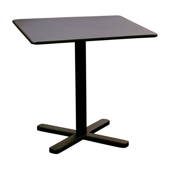 "emu 529 Darwin Dining Height Tilt-Top Bar Table w/ 28"" Square Top - Steel, Antique Black"