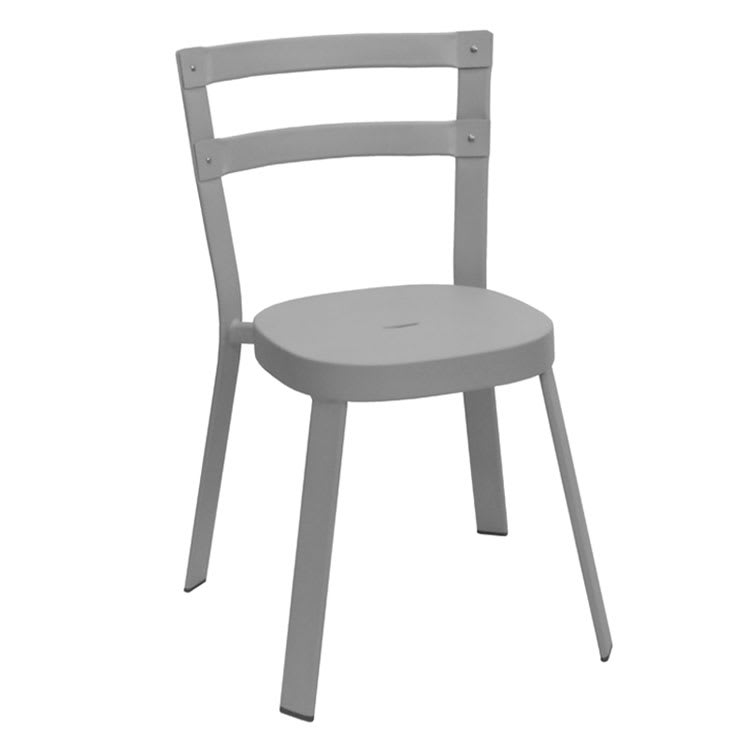 """emu 655 31.5"""" Thor Stacking Side Chair w/ Ladder Back - Steel, Antique Cement"""