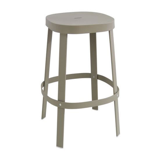 "emu 657 29.5"" Thor Backless Stacking Barstool - Steel, Antique Cement"