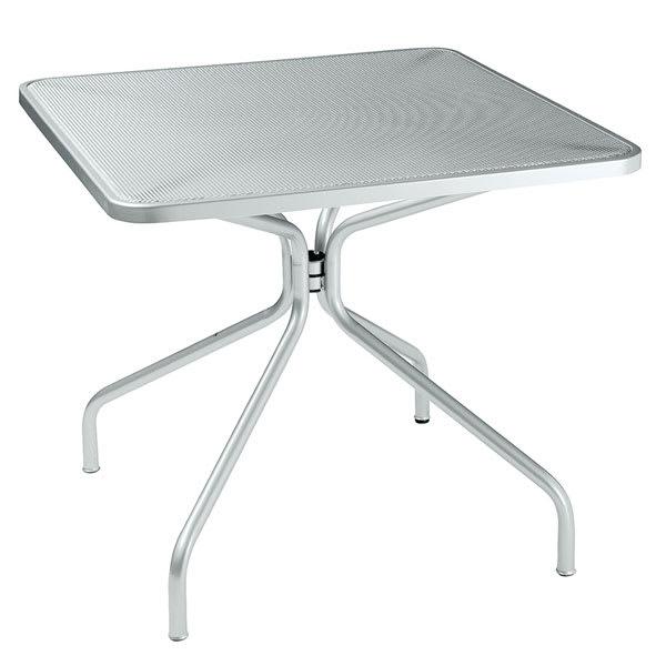 "emu 800 ALU Cambi Table, 24"" Square, Steel Mesh Top, Aluminum"
