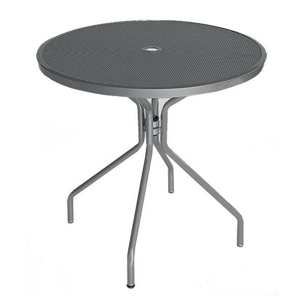 "emu 803 AIRON Cambi Table, 32""Diameter, Umbrella Hole, Mesh Top, Iron"