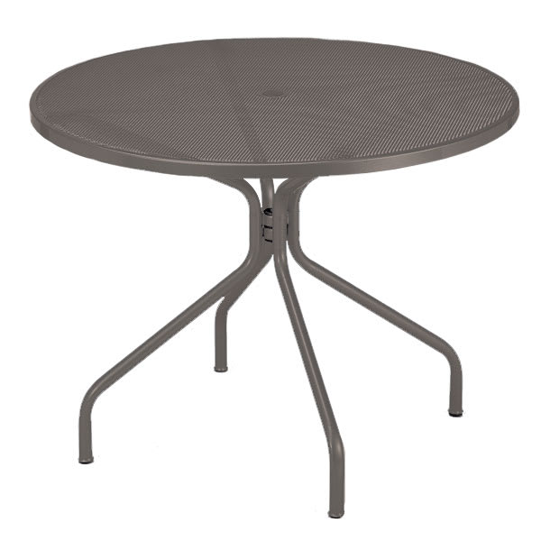 "emu 805 Cambi Table, 48""Diameter, Umbrella Hole, Mesh Top, Bronze"