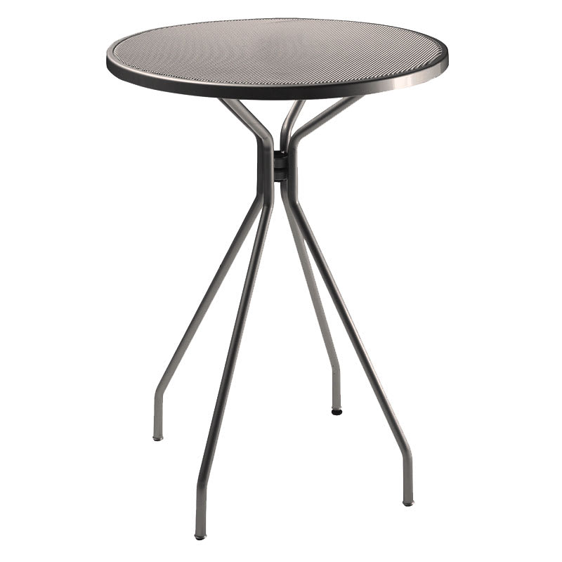 "emu 820 Cambi Bar Table, 32""Diameter, Umbrella Hole, Mesh, Bronze"
