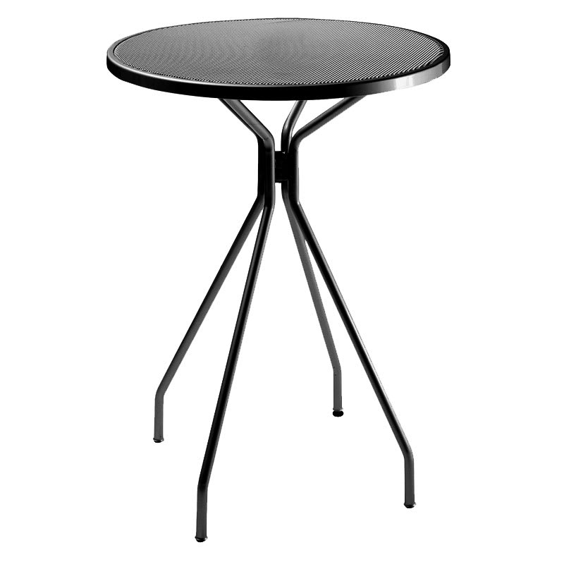 "emu 820 BLACK Cambi Bar Table, 32""Diameter, Umbrella Hole, Mesh, Black"