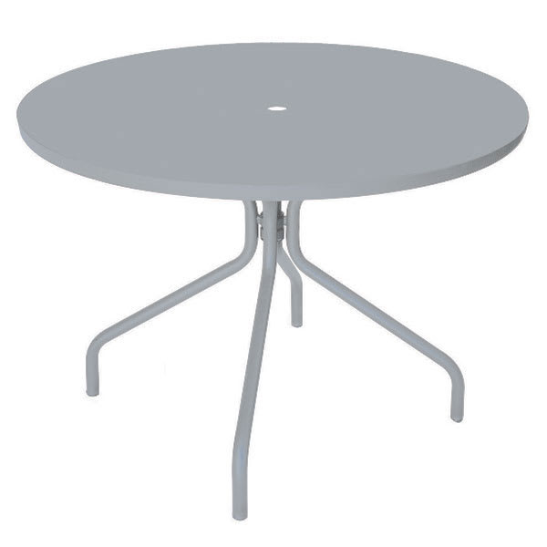 "emu 828 ALU Solid Table, 32"" Diameter, Umbrella Hole, Solid Top, Aluminum"
