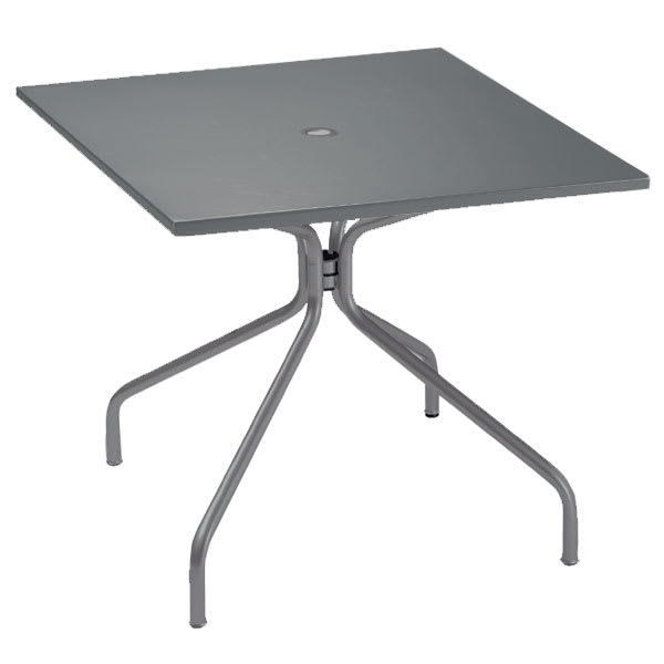 "emu 829 Solid Table, 32"" Square, Umbrella Hole, Solid Top, Iron"