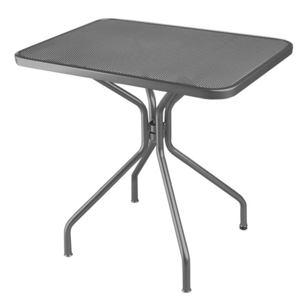 "emu 834 Cambi Table, 32 W x 24""D, Steel Legs, Mesh Top, Iron"