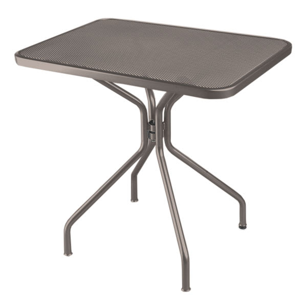 """emu 834 BRONZE Cambi Table, 32 W x 24""""D, Steel Legs, Mesh Top, Bronze"""