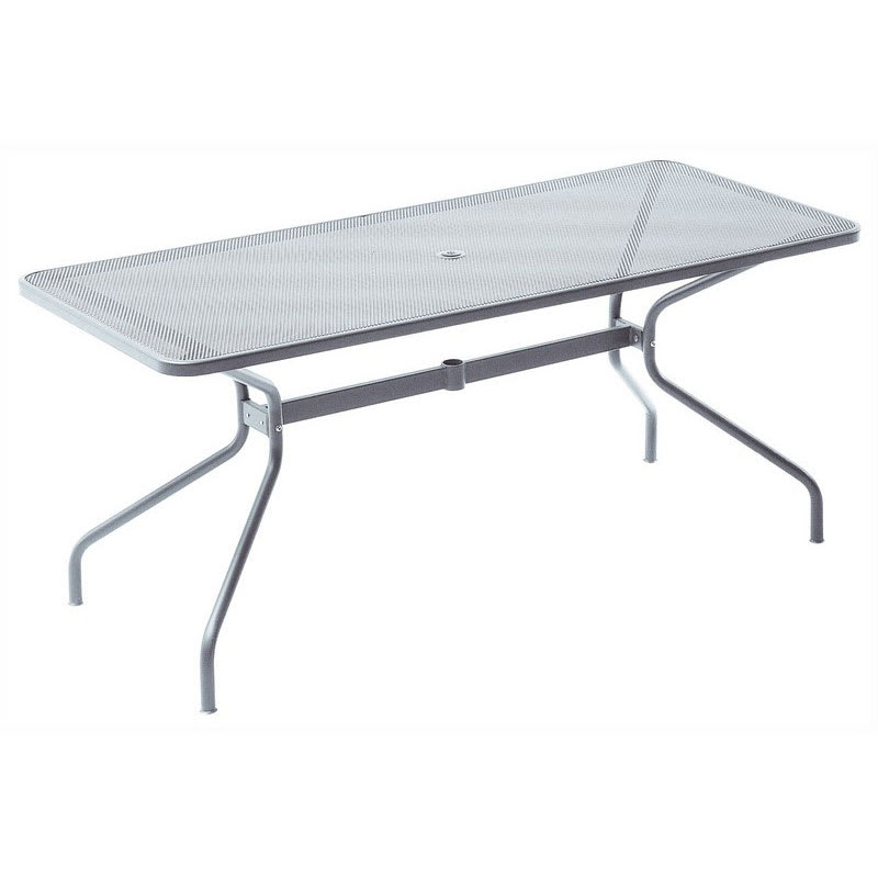 "emu 836 Cambi Table w/ 48"" x 32"" Rectangular Top - Steel, Glossy Aluminum"
