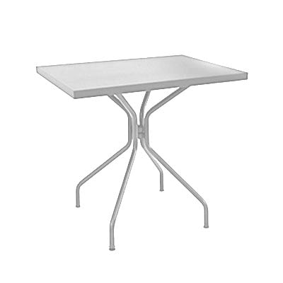 "emu 847 Solid Table w/ 24"" x 32"" Rectangular Top - Steel, Glossy Aluminum"