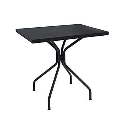 "emu 847 Solid Table w/ 24"" x 32"" Rectangular Top - Steel, Antique Iron"