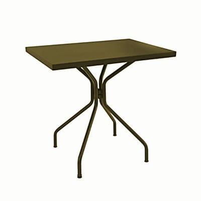 "emu 847 Solid Table w/ 24"" x 32"" Rectangular Top - Steel, Antique Bronze"