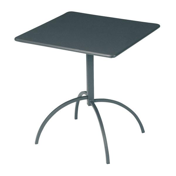 "emu 851 Steel Segno Tilt Top Table, 24"" Square, Iron"