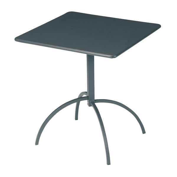 "emu 852 Steel Segno Tilt Top Table, 28"" Square, Iron"
