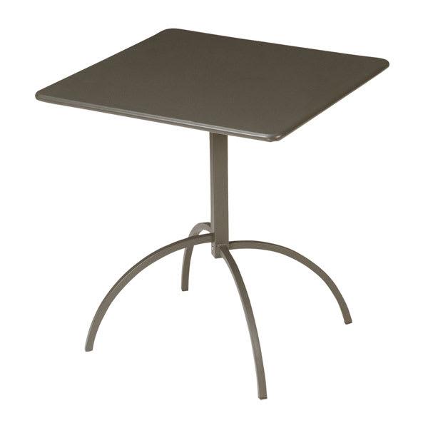 "emu 852 BRONZE Steel Segno Tilt Top Table, 28"" Square, Bronze"