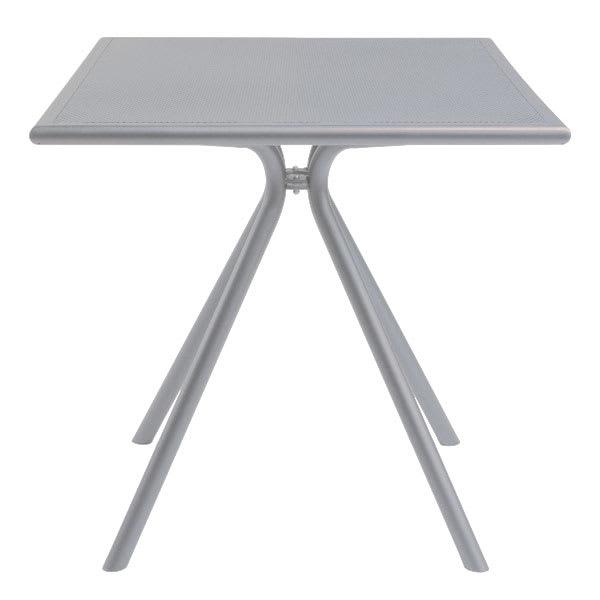 "emu 860 ALU Forte Table, 24"" Square, Adjustable, Mesh Top, Aluminum"