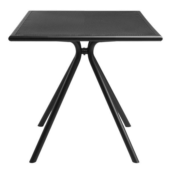"emu 860 24"" Forte Square Table - Indoor/Outdoor, Mesh Top, Steel Frame, Black"