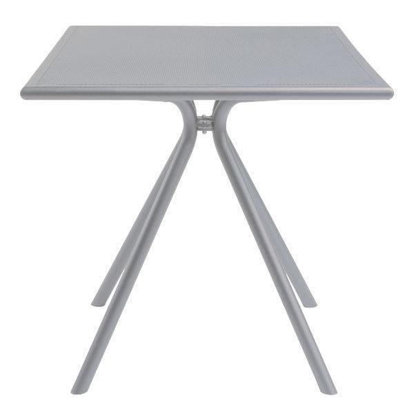 "emu 861 ALU Forte Table, 32"" Square, Adjustable, Mesh Top, Aluminum"