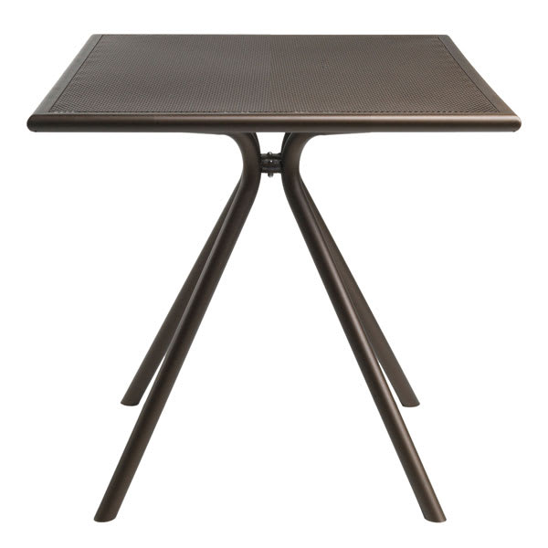 "emu 861 BRONZE Forte Table, 32"" Square, Adjustable, Mesh Top, Bronze"