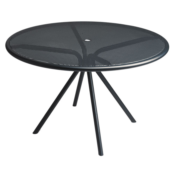 "emu 864 Forte Table, 42""Diameter, Adjustable, Mesh Top, Iron"