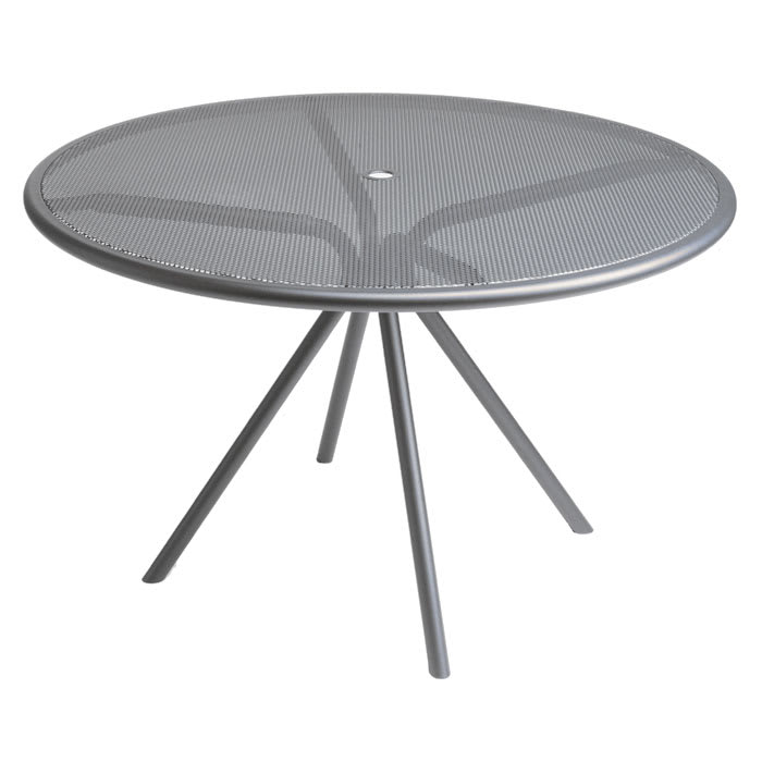 "emu 864 ALU Forte Table, 42"" Diameter, Adjustable, Mesh Top, Aluminum"