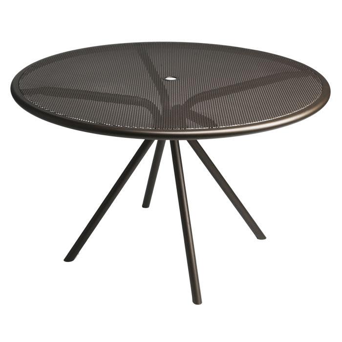 """emu 864 BRONZE Forte Table, 42""""Diameter, Adjustable, Mesh Top, Bronze"""
