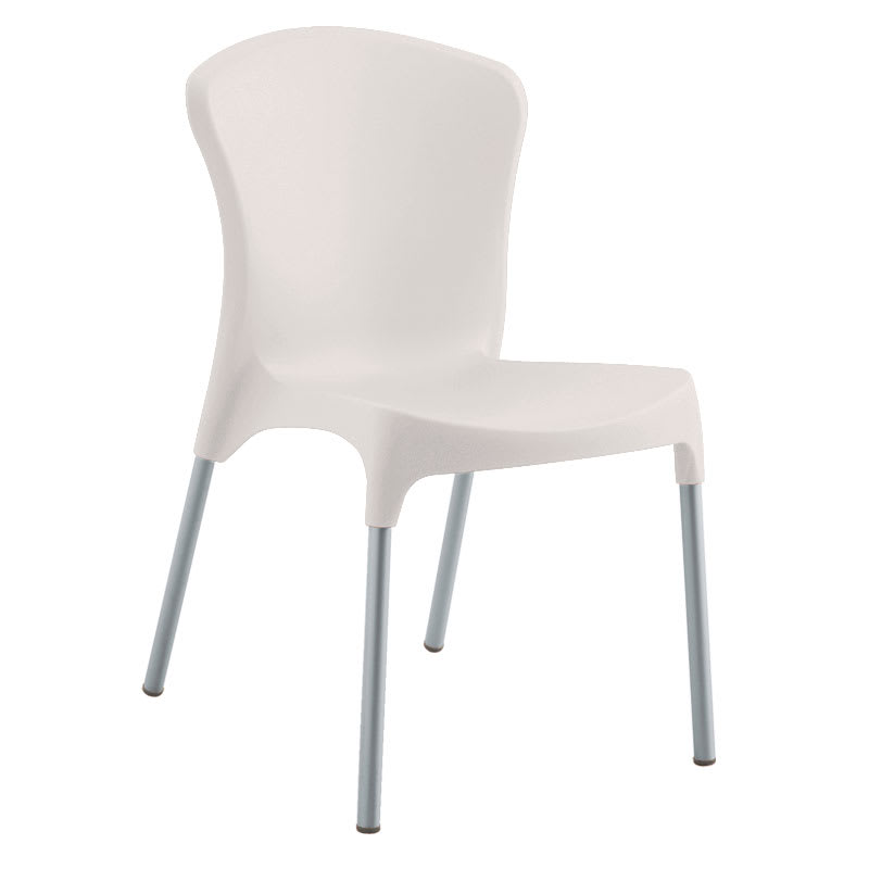 emu 9004 CREAM Nido Side Chair, Cream Poly Shell, Aluminum