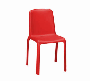 "emu 9007 31.5"" Milo Stacking Side Chair - Polypropylene, Antique Red"