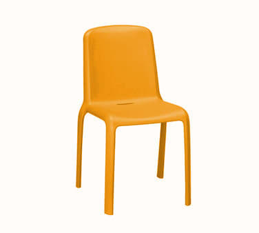 "emu 9007 31.5"" Milo Stacking Side Chair - Polypropylene, Antique Orange"