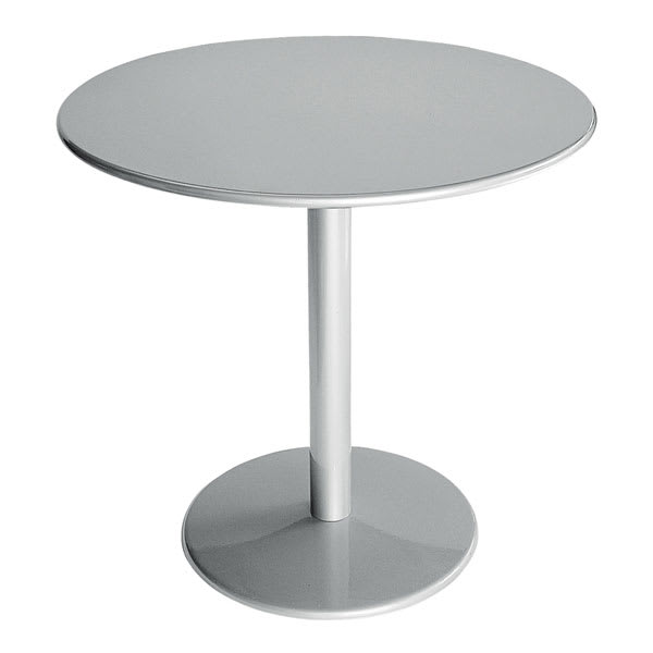 "emu 900 ALU Bistro Table, 24"" Diameter, Solid Pedestal & Top, Aluminum"