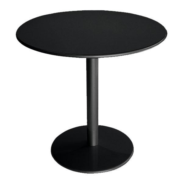 "emu 900 BLACK Bistro Table, 24""Diameter, Solid Pedestal & Top, Black"