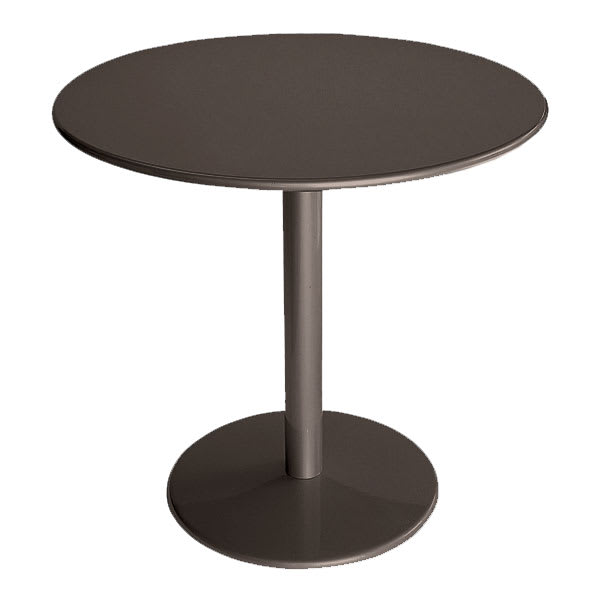 """emu 900 BRONZE Bistro Table, 24""""Diameter, Solid Pedestal & Top, Bronze"""