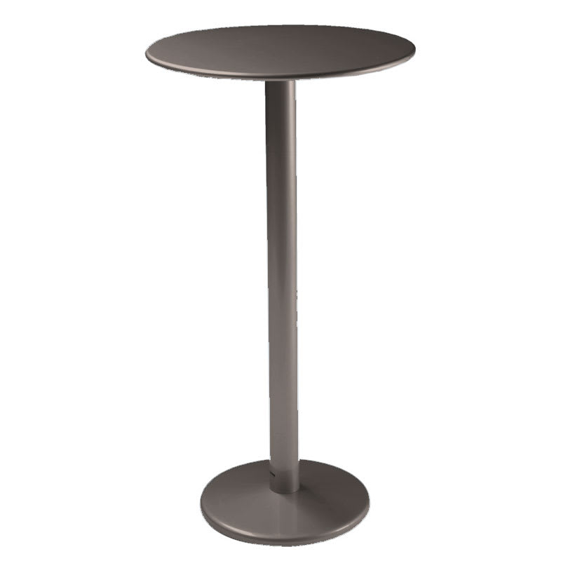 "emu 900H Bistro Bar Table, 24""Diameter, Solid Pedestal, Bronze"