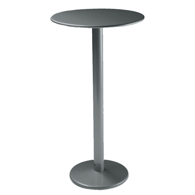 "emu 900H AIRON Bistro Bar Table, 24""Diameter, Solid Pedestal, Iron"