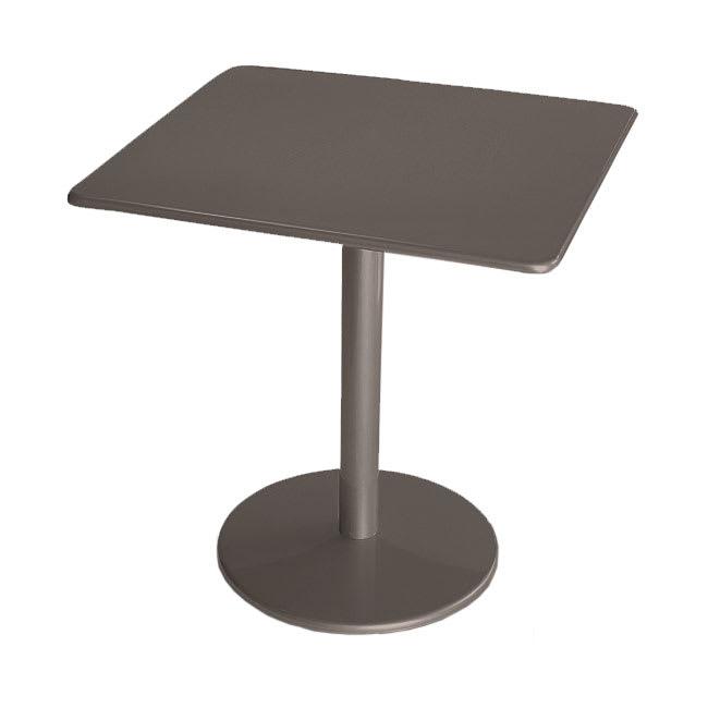 "emu 901 Bistro Table, 30"" Square, Solid Pedestal, Bronze"
