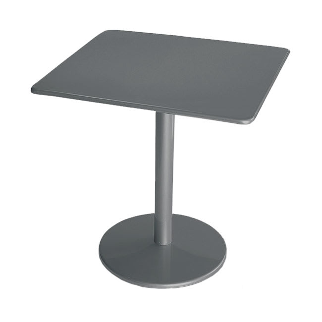 "emu 901 AIRON Bistro Table, 30"" Square, Solid Pedestal, Iron"