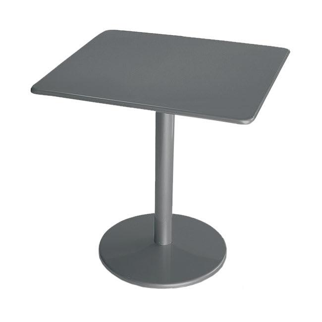"emu 901 AIRON Bistro Table, 30"" Square, Solid Pedestal, Iron"