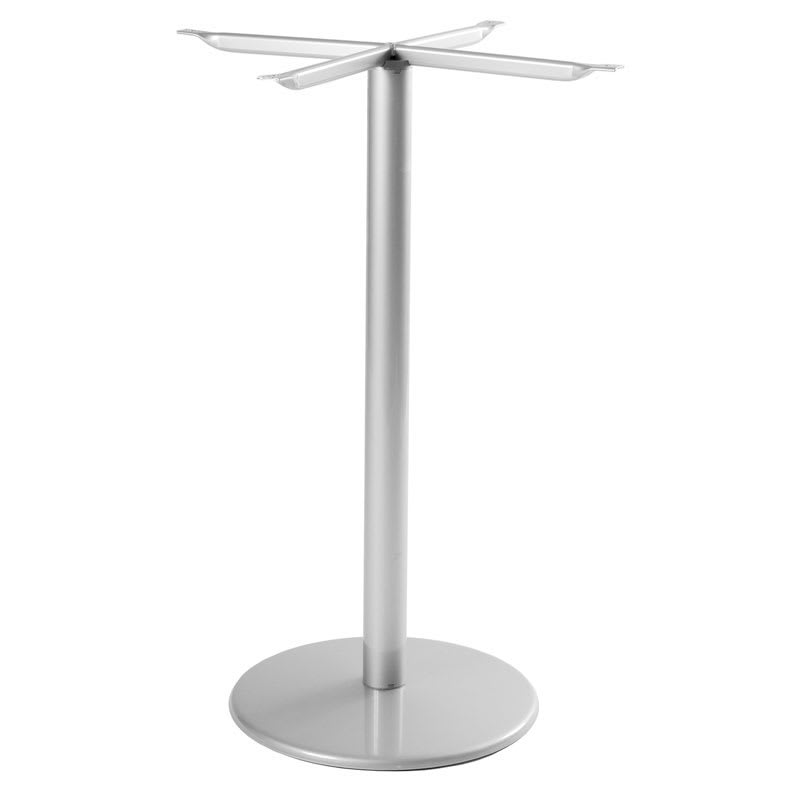 "emu 902HBS ALU Bistro Base, Tops Up To 32 D & 28"" Square, Bar H, Aluminum"